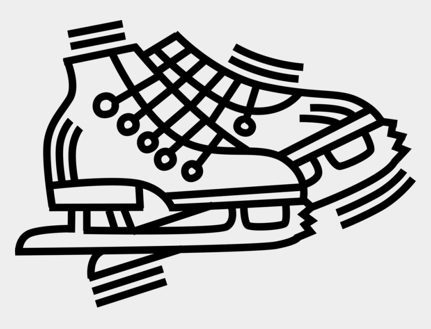 figure skating clipart, Cartoons - Vector Skate Black And White Clipart