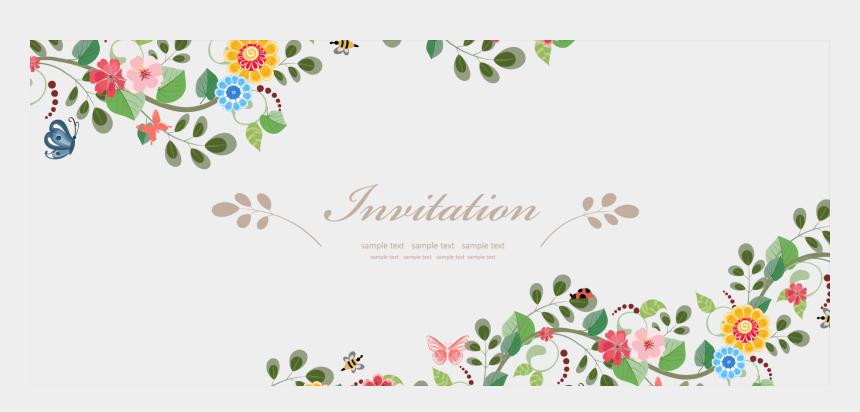wedding flower clipart, Cartoons - Wedding Invitation Flower Euclidean Vector - Flower Invitation Vector Free