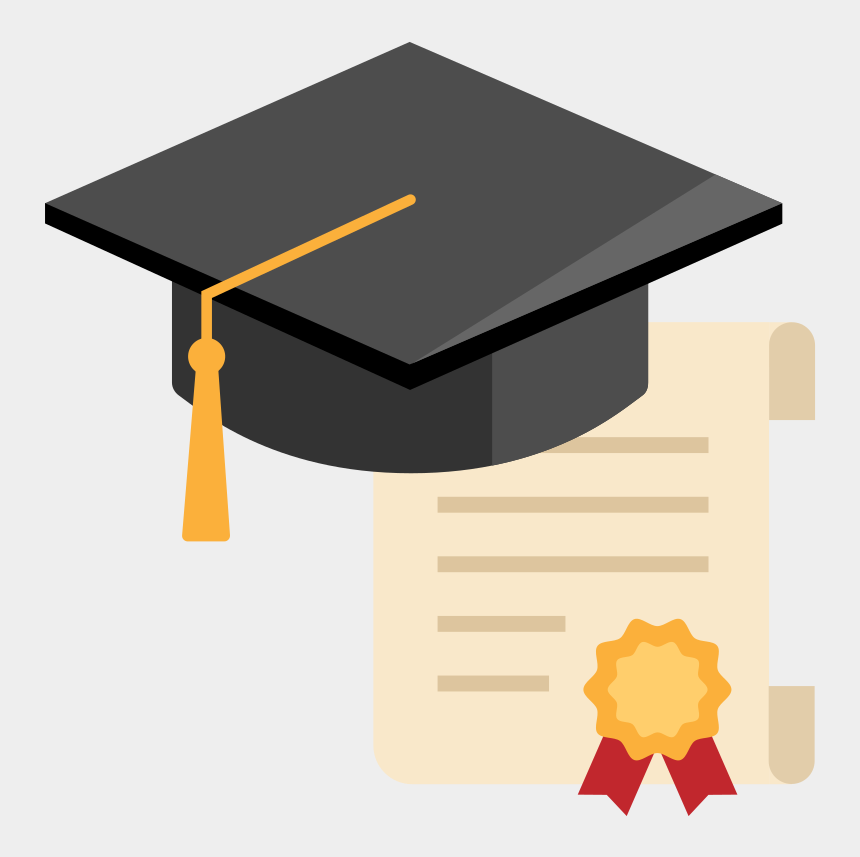 graduation cap and diploma clipart, Cartoons - Graduation Cap Vector Png - University Certificate Icon