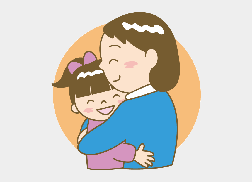 Mother Child Woman Clip Art Daughter Transprent Cartoon Image Of A Mother Hugging Their Child Cliparts Cartoons Jing Fm