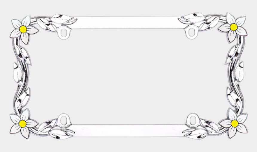 license plate clipart, Cartoons - Flower License Plate Frames
