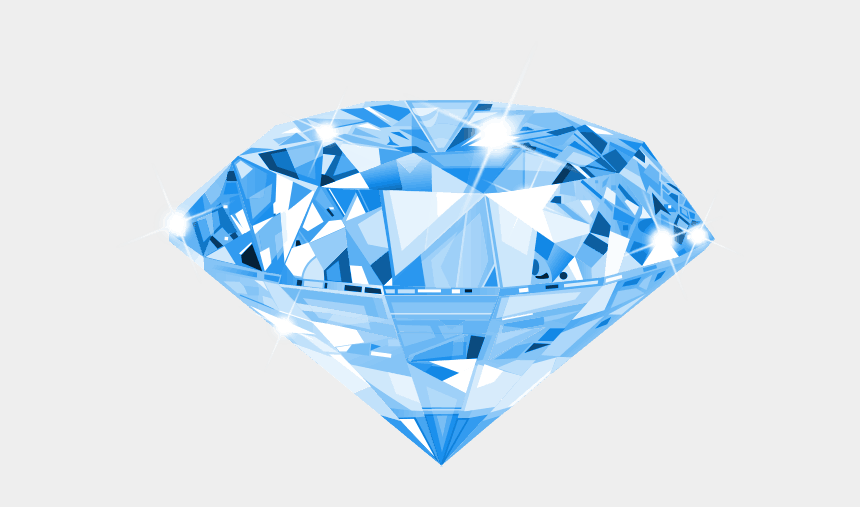 Diamond realistic. Jewellery illustration vector graphics