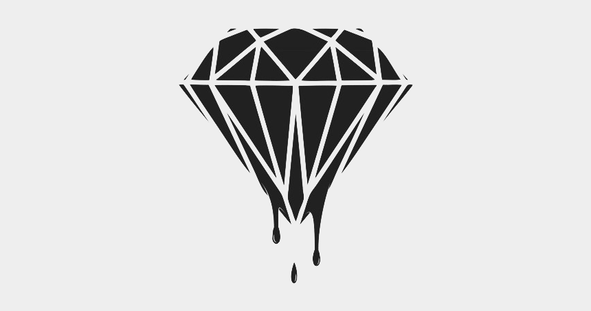 diamond clipart black and white, Cartoons - Diamond Relax Aesthetic Aesthetictumblr Tumblr Fakelove - Diamond Black And White