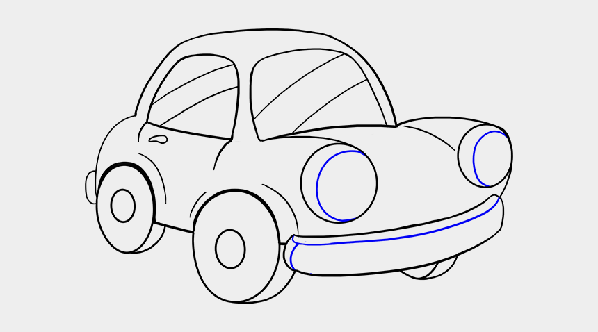 cartoon car clipart, Cartoons - Cartoon Car Drawing Group - Car Drawing Front Transparent