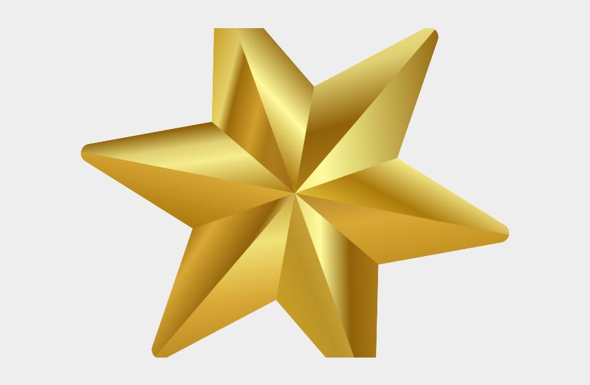 schneeflocke clipart, Cartoons - Decorations Clipart Christmas Star - Gold Star Png Transparent