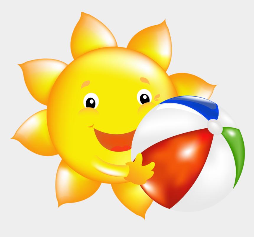 seaside clipart, Cartoons - Солнце С Мячом Clipart Design, Emojis, Seaside, Clip - Разрезные Картинки Для Детей 3 4 Лет
