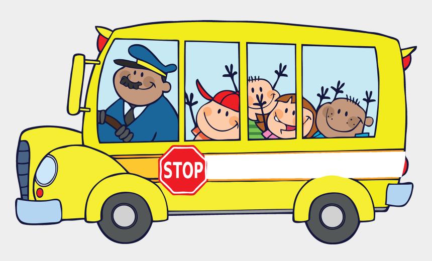 road trip clipart, Cartoons - Community Helpers School Bus Driver