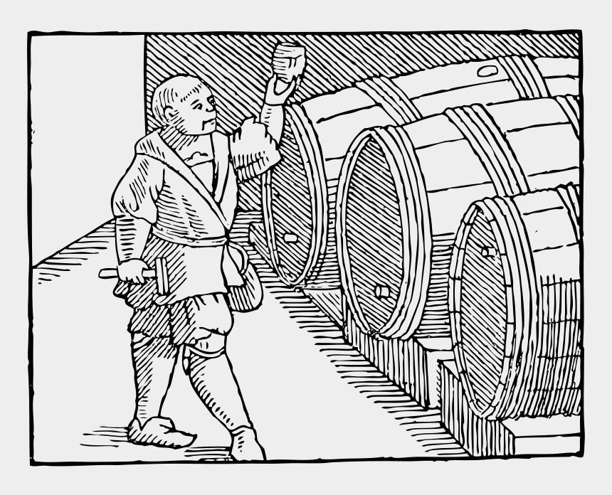 wine tasting clipart, Cartoons - Wine Medieval Book
