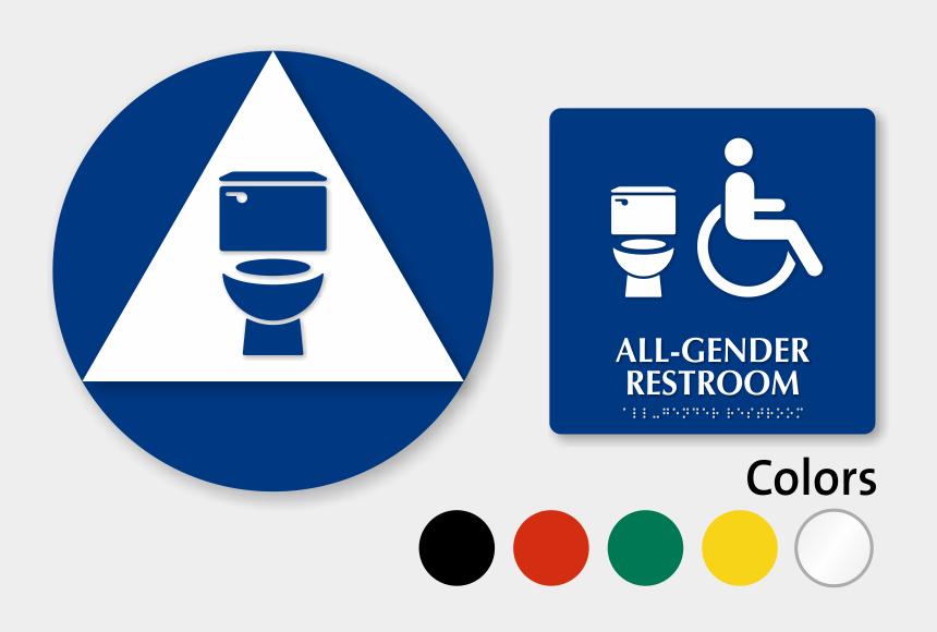 restroom clipart, Cartoons - California All Gender Neutral Restroom Door Wall Ⓒ - California Restroom Signs