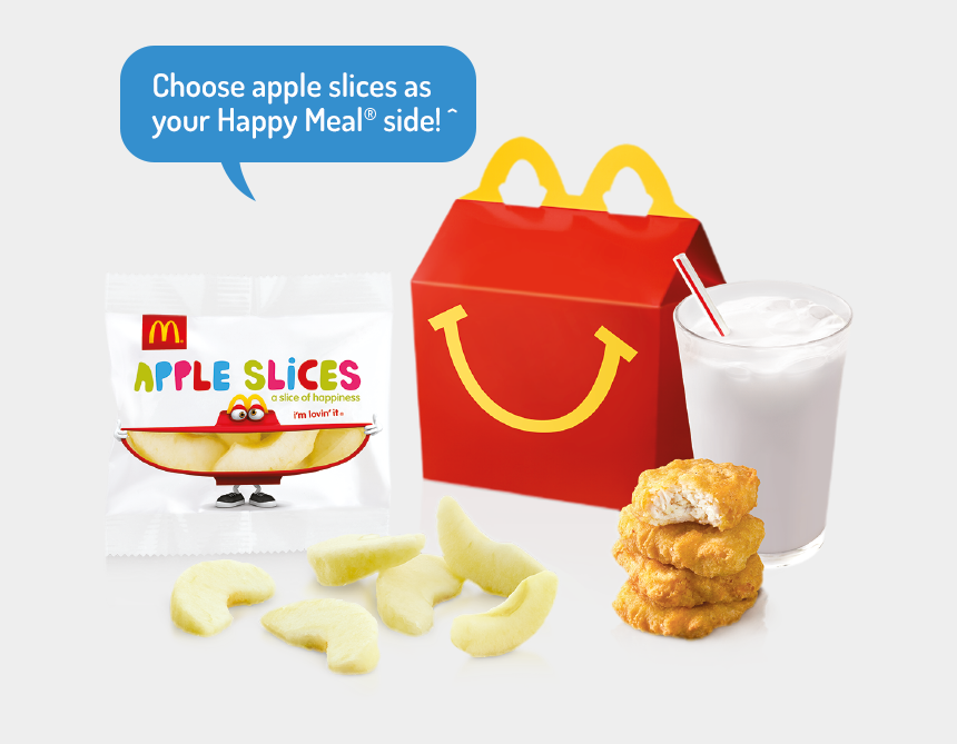 mcdonalds clipart, Cartoons - Mcdonalds Clipart Mcnugget - Mcdonalds Happy Meal Apple Slices
