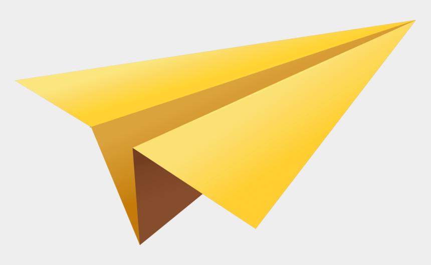 paper plane clipart, Cartoons - Yellow Paper Plane - Paper Plane Png