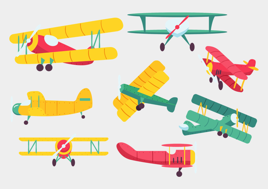 vintage airplane clipart, Cartoons - Biplane %5bconverted%5d Vintage Airplanes, Vector - Vector Graphics