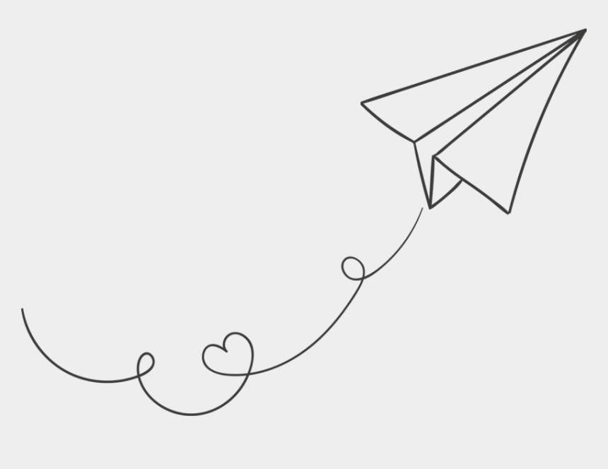 airplane clipart free, Cartoons - Airplane Clipart White Paper - Transparent Background Paper Airplane Clipart