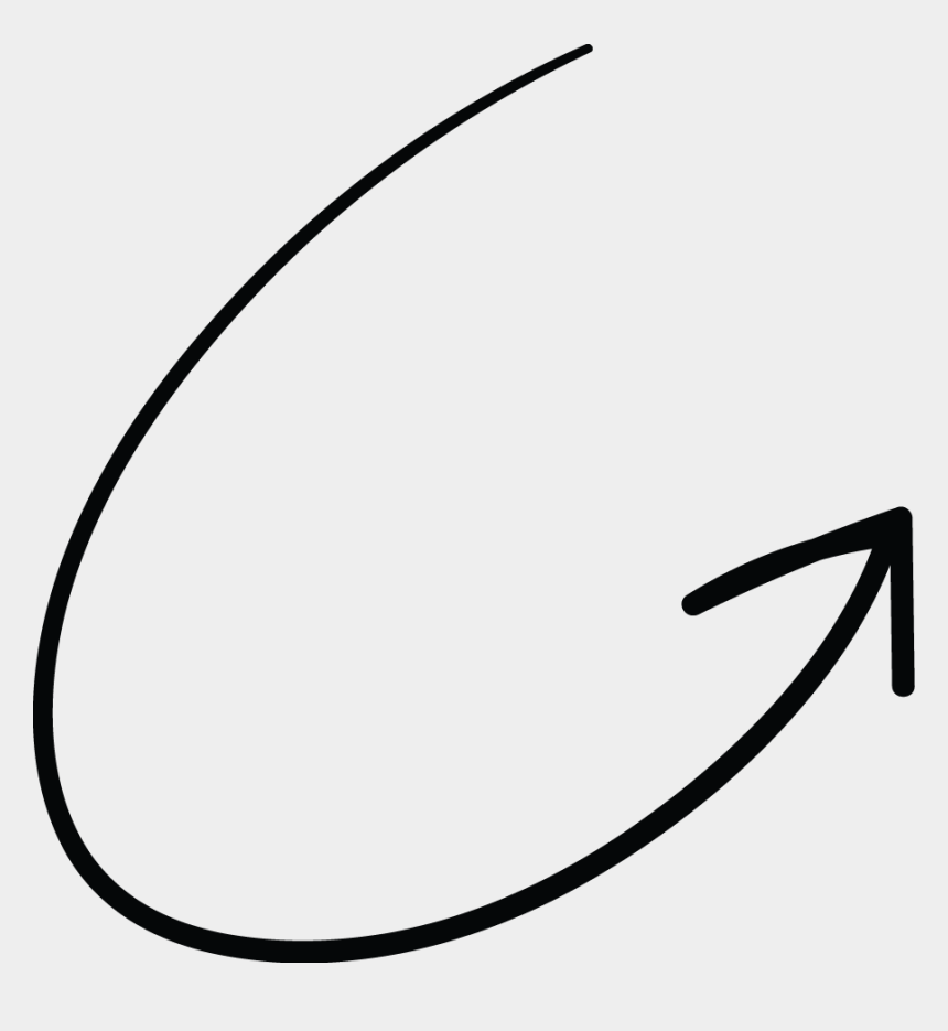 curved line clipart, Cartoons - Curve Line Tail Doodle Down Arrow Twist Line Dot Tail - Line Art