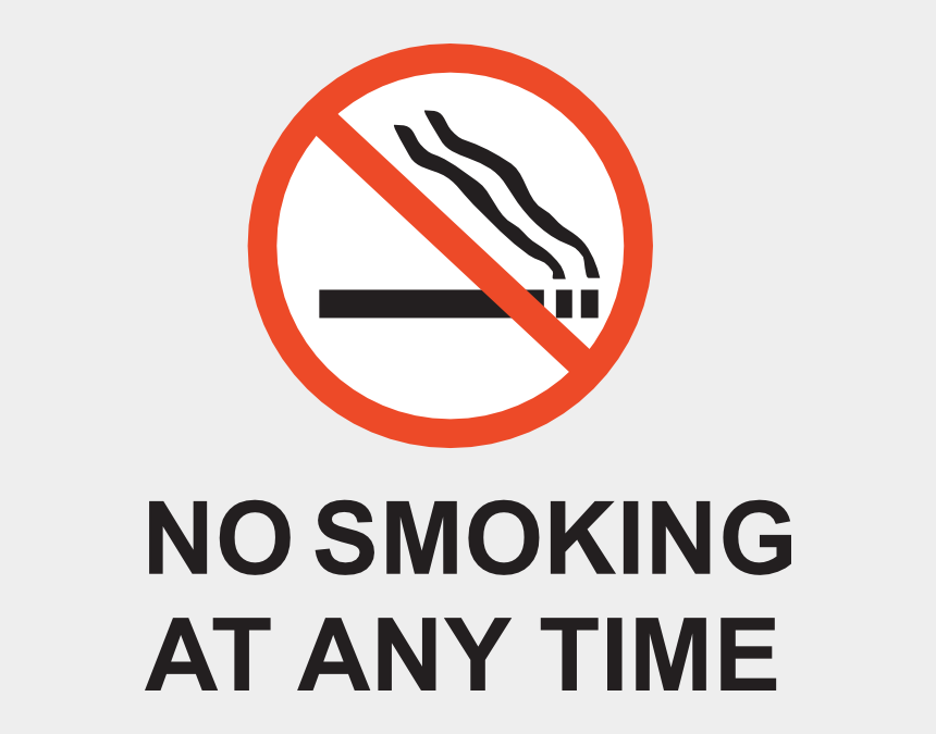 no smoking clipart, Cartoons - Absolutely No Smoking Sign