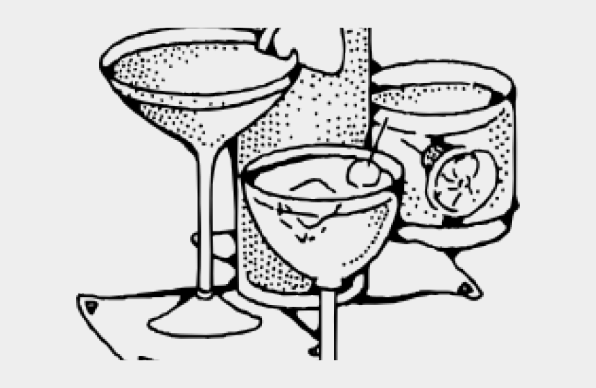 beverage clipart, Cartoons - Beverage Clipart Bar Drink - Cocktails Clipart Black And White