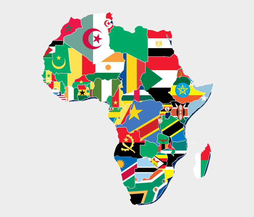 africa map clipart, Cartoons - Yasharalites In Africa - Africa Map Flags
