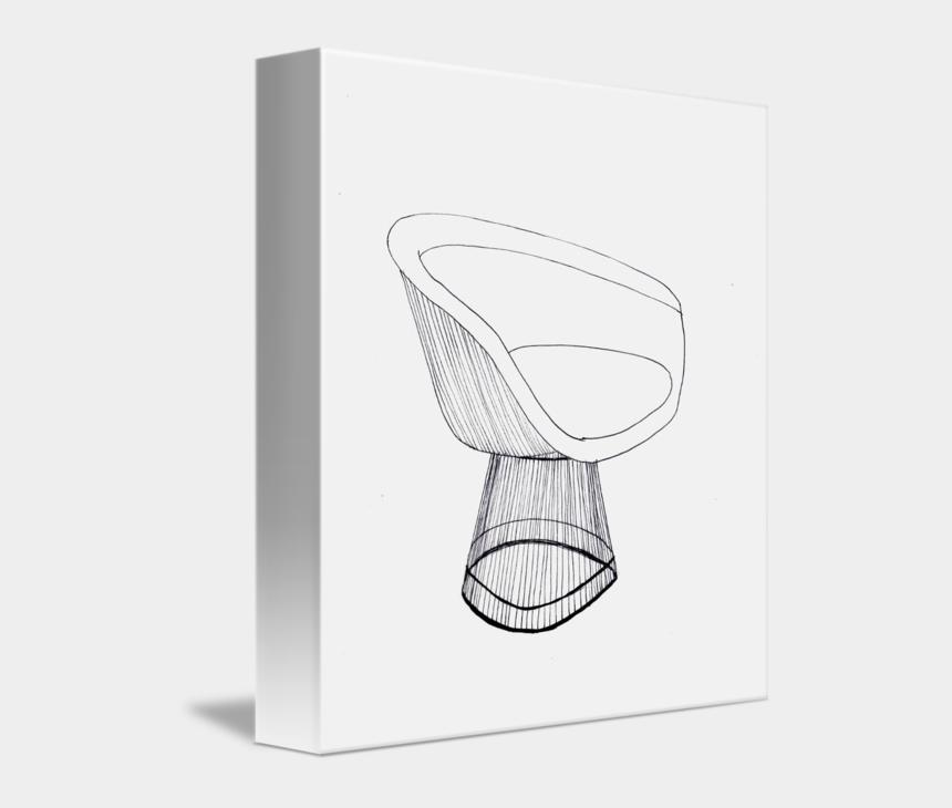 beach chair clipart, Cartoons - Platner's Lounge Chair Line Drawing By Rachael Edmonds - Cradle