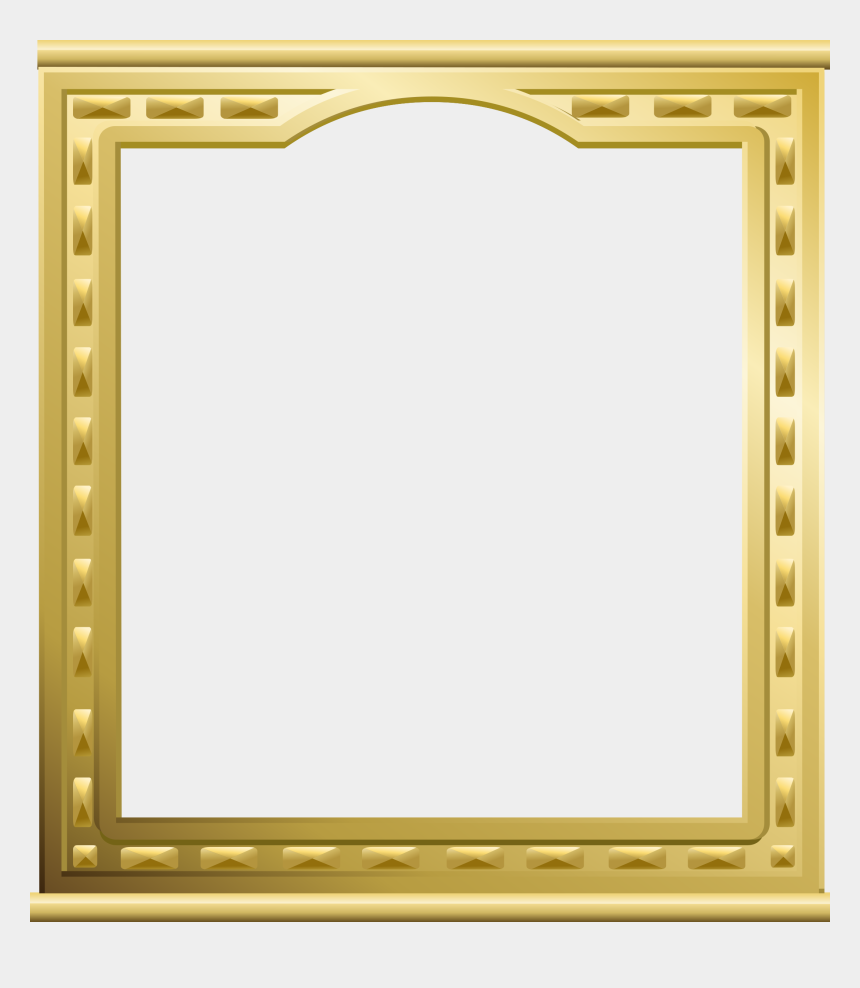 gold frame clipart, Cartoons - Gold Frame A4 Clipart Picture Frames Gold Decorative - Vintage Gold Frame Transparent