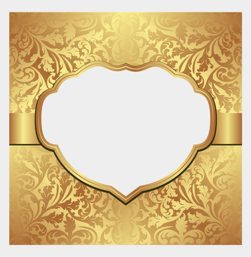 plaque clipart, Cartoons - #gold #award #plaque #poster #divider #header #border - Gold Wedding Invitation Background