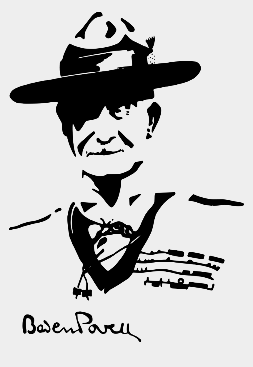 two clipart, Cartoons - Boy Scouting Hero For Boys Of Two Clipart - Baden Powell Day