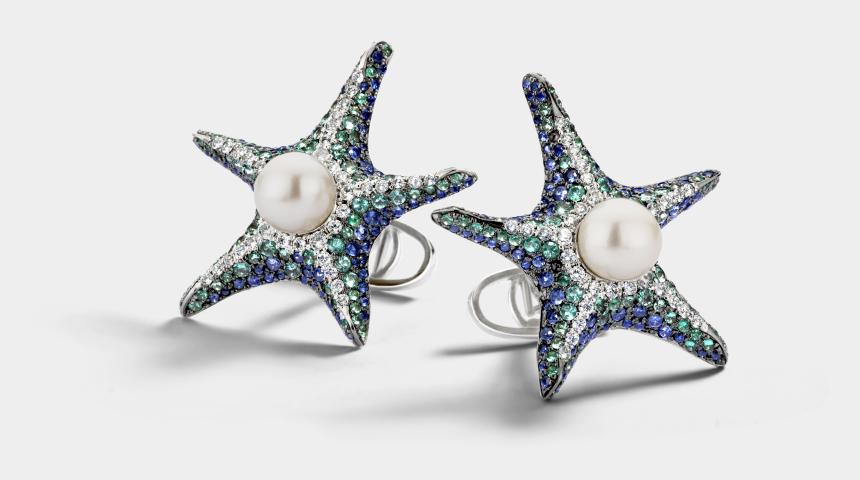 sea star clipart, Cartoons - Pacific Sea Star - Earrings