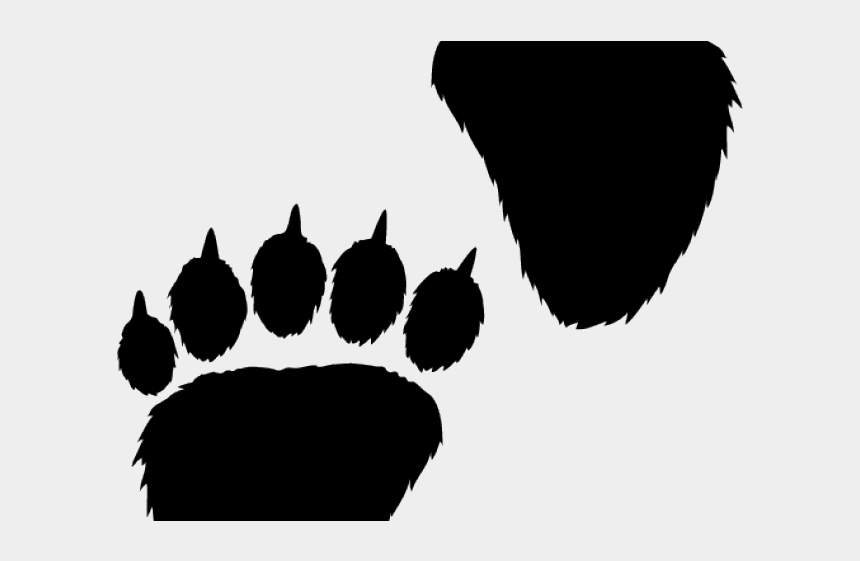 Claw Clipart Paw - Bear Paw Print Clipart, Cliparts