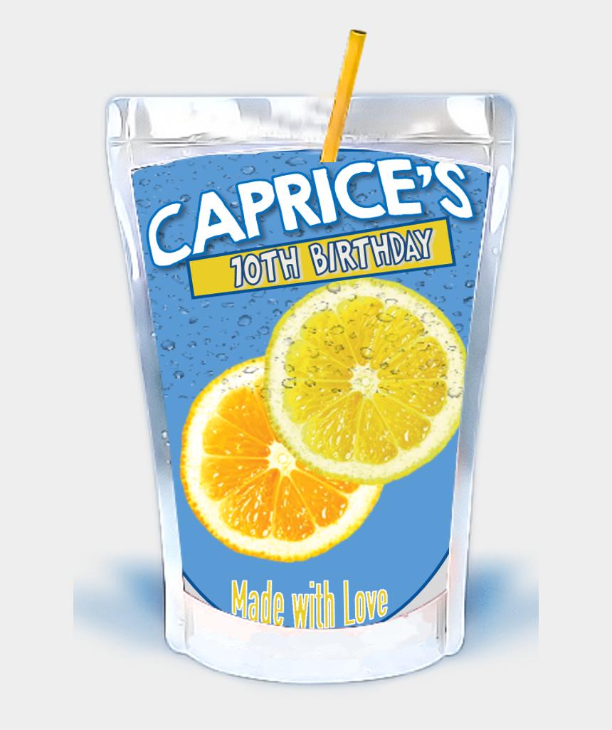 cereal box clipart, Cartoons - Juice Pouch Party Favor - Capri Sun Mockup Png