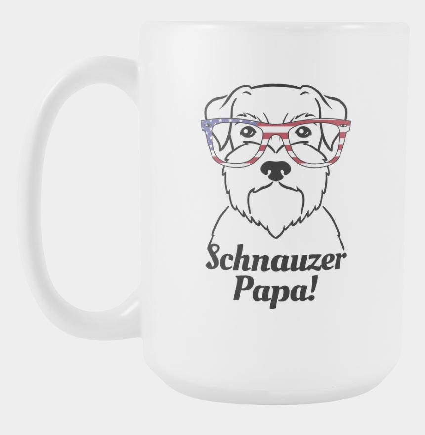 schnauzer clipart, Cartoons - Schnauzer Papa - Coffee Cup - I M Not Feeling Very Talky Today Mug