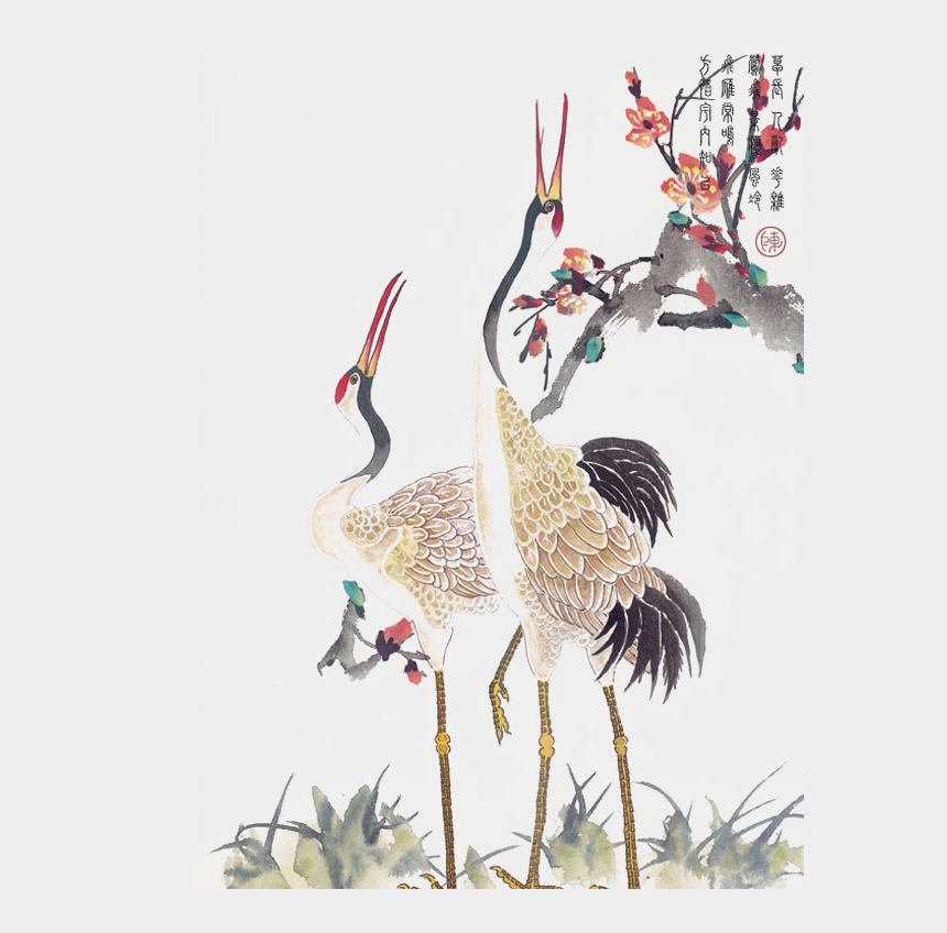crane clipart, Cartoons - Wind Tattoo Crane Idea Chinese Hd Image Free Png - Red Crowned Crane Tattoo