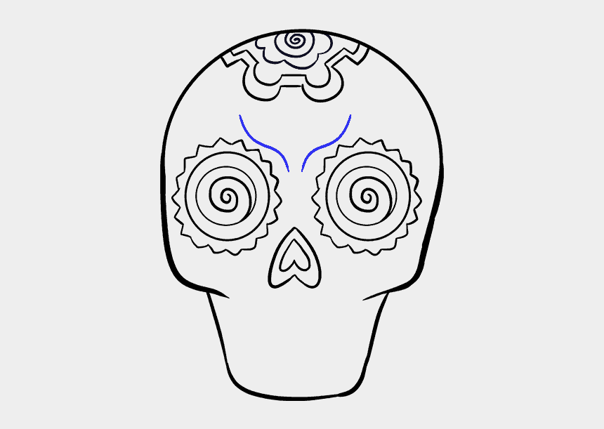 teardrop clipart, Cartoons - Altar Drawing Roman Catholic - Dia De Los Muertos Drawings Sugar Skull