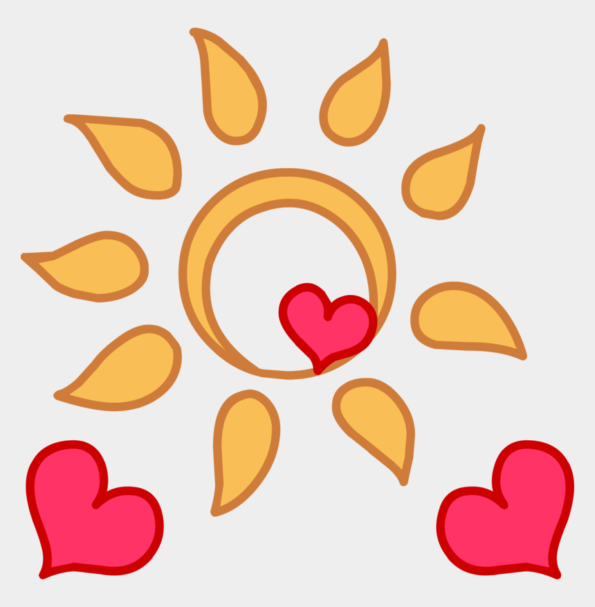 sunburn clipart, Cartoons - This Png File Is About Light , Appbreeze , The Nature - Mlp Sun And Hearts Cutie Mark