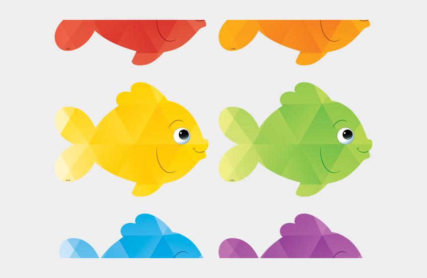 sphinx clipart, Cartoons - Six Fish Cliparts - Colored Fish Clip Art