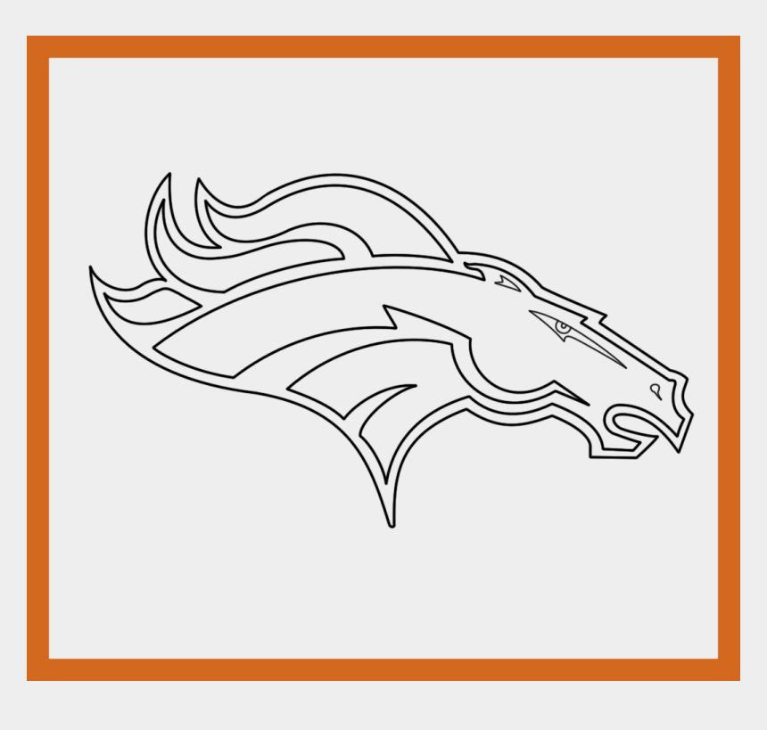 The Best Denver Broncos Logo Coloring Pages For Puppy - Broncos Black And  White, Cliparts & Cartoons - Jing.fm