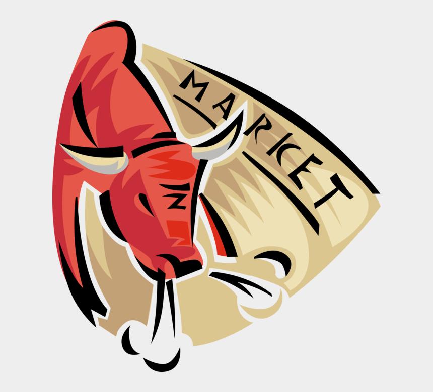 stock market clipart, Cartoons - Vector Bull Stock Market - Bulls Images In Sharemarket