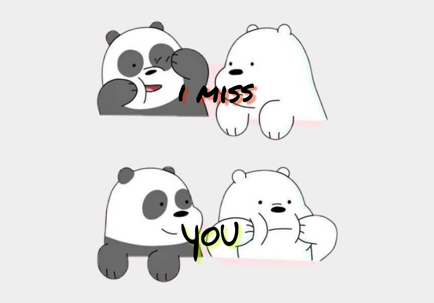 miss you clipart, Cartoons - Miss You - We Bare Bears