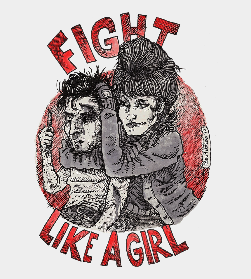 fight clipart, Cartoons - Fight Like A Girl Png