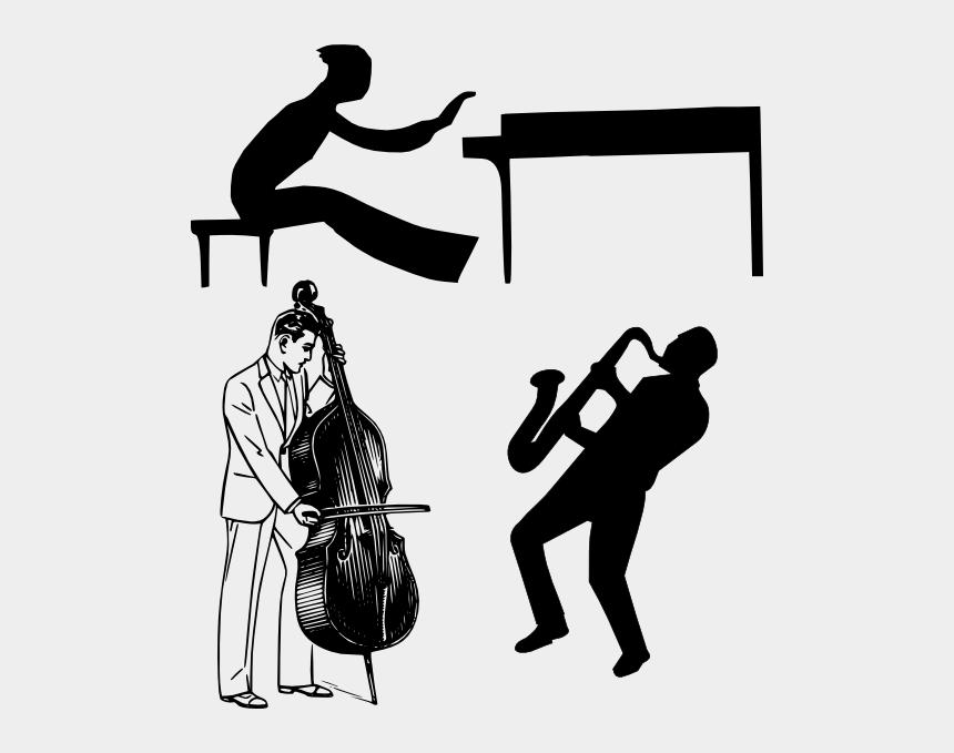 jazz clipart, Cartoons - Jazz Clip Art - Bass Instrument Clipart Black And White