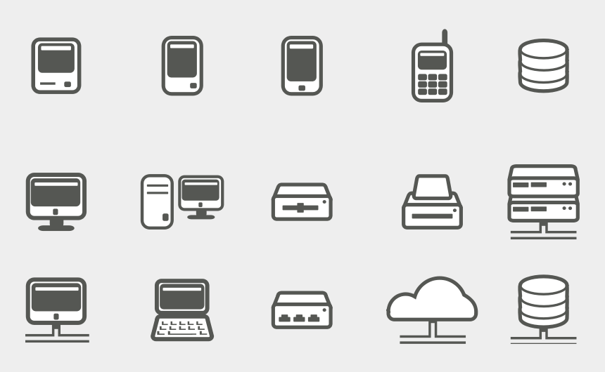 free clipart icons, Cartoons - Free Computer Network Icons