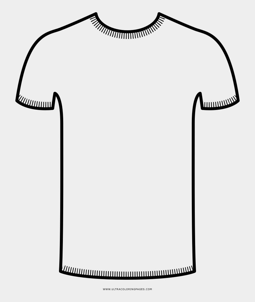 white t shirt clipart, Cartoons - White T Shirt Coloring - V Neck Shirt Icon