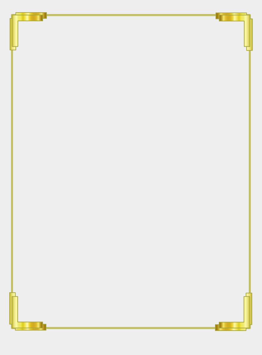 gold border clipart, Cartoons - Gold Frame Background Png
