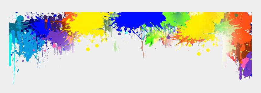 header clipart, Cartoons - Paint Header Png - Paint Splatter Header