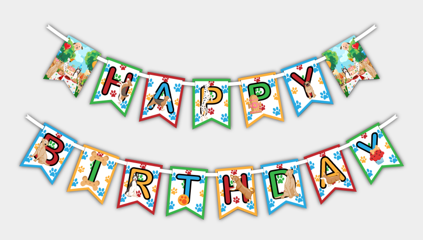 "happy birthday banner clipart, Cartoons - Puppy Dog ""happy Birthday"" Party Banner - Birthday"