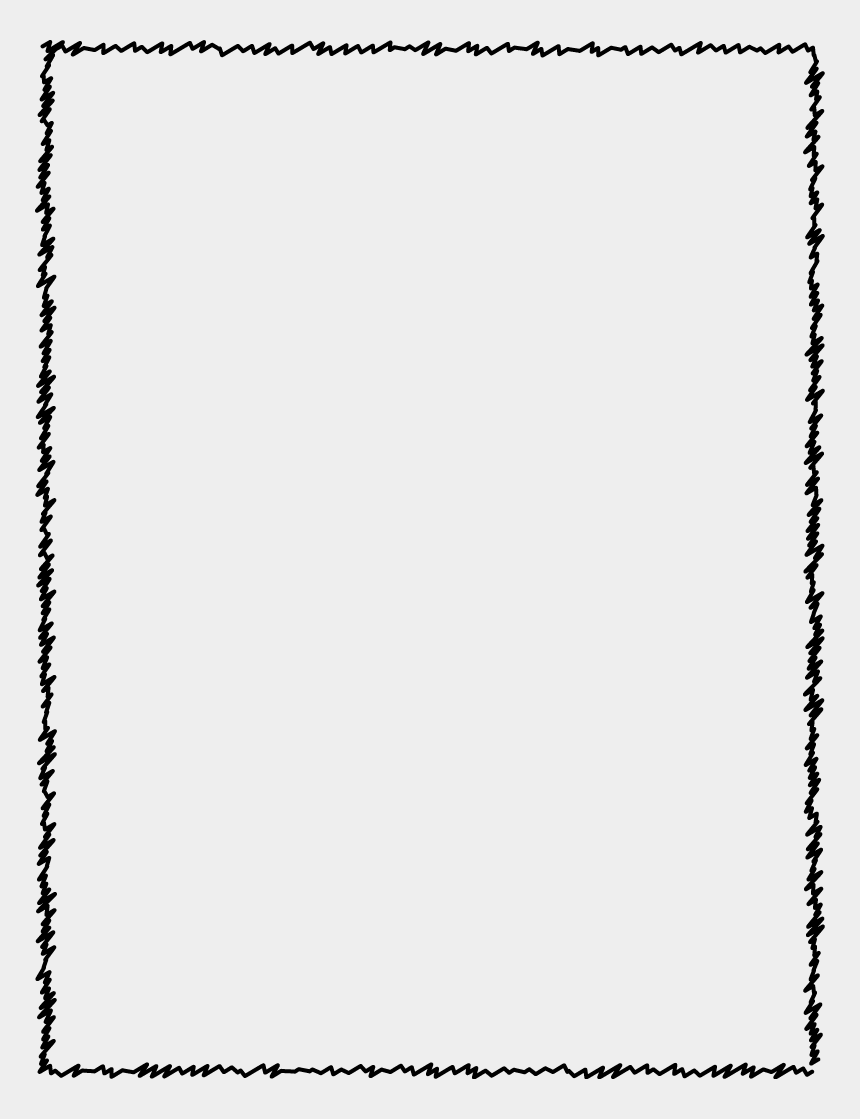 free page border clipart, Cartoons - Scribbled Edge Page Border - Graphic Organizer Elements Of The Story