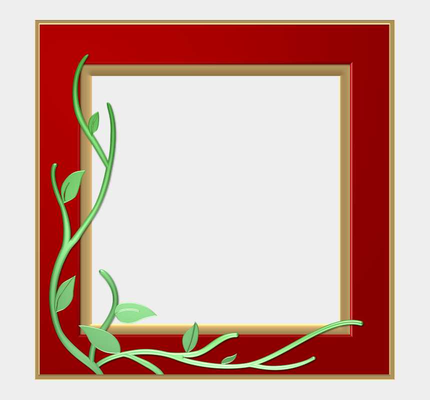 clipart frames and borders, Cartoons - Red Border Frame Png Transparent - Border Frame Design Png