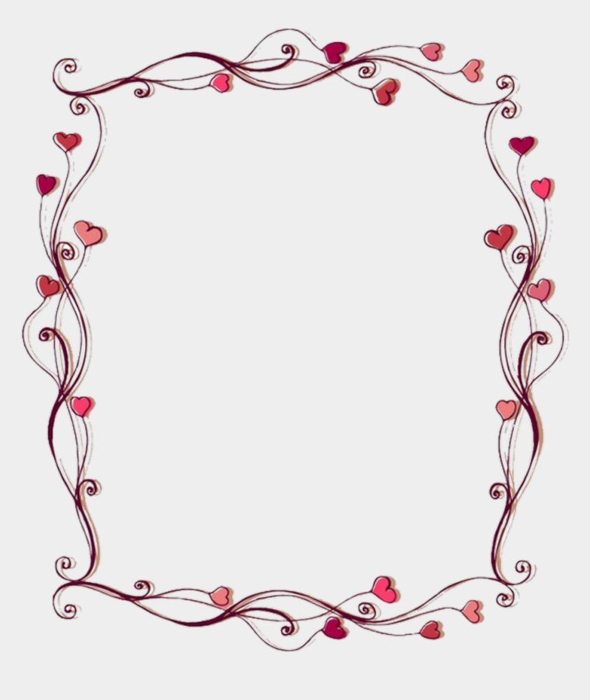 clipart frames and borders, Cartoons - #frames #frame #borders #border #hearts #heart - Flower And Heart Border