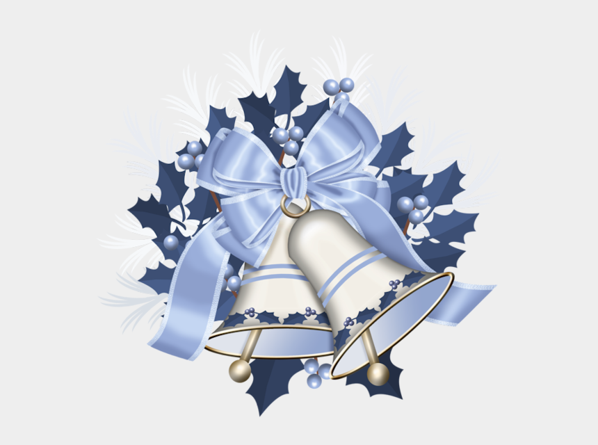 Christmas Bells Clipart.Christmas Bell Clipart Silver Bell Santa Claus In A Sleigh