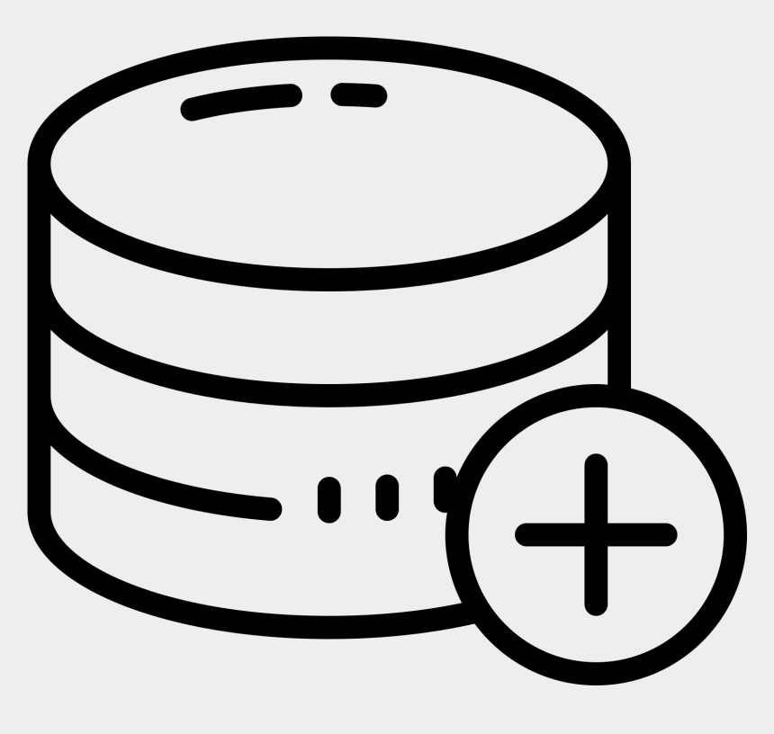 add clipart, Cartoons - Add Database Icon - Data Base Image In Png