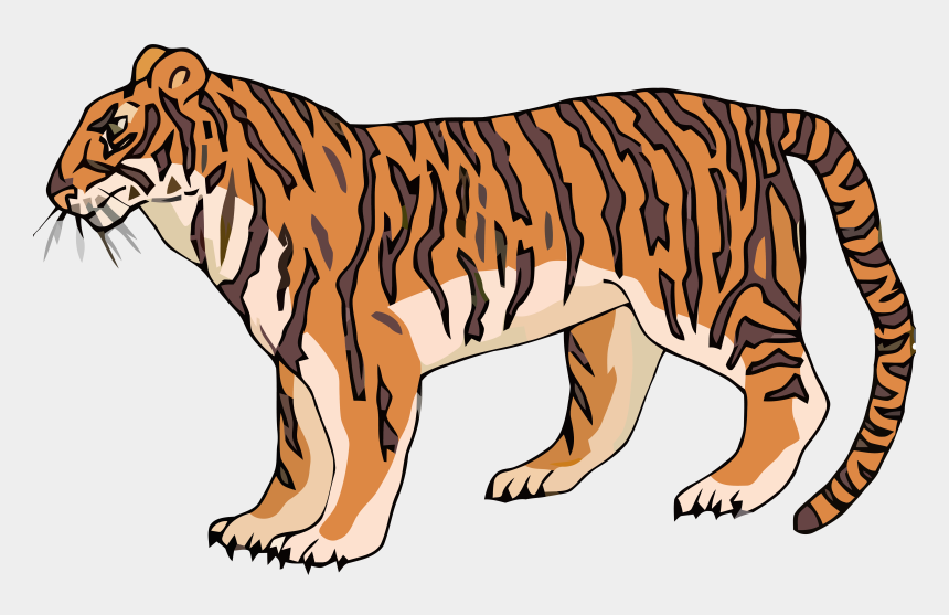 all clipart, Cartoons - All Tigger Clip Art Clipart Png Image Download - Cartoon Tiger Side View