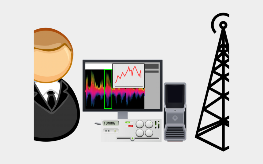 user clipart, Cartoons - Analyst Clipart Computer User - Cell Phone Tower Drawing
